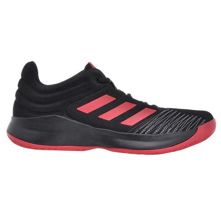 Adidas Men's Pro Spark 2018 Low With Box Black Scarlet