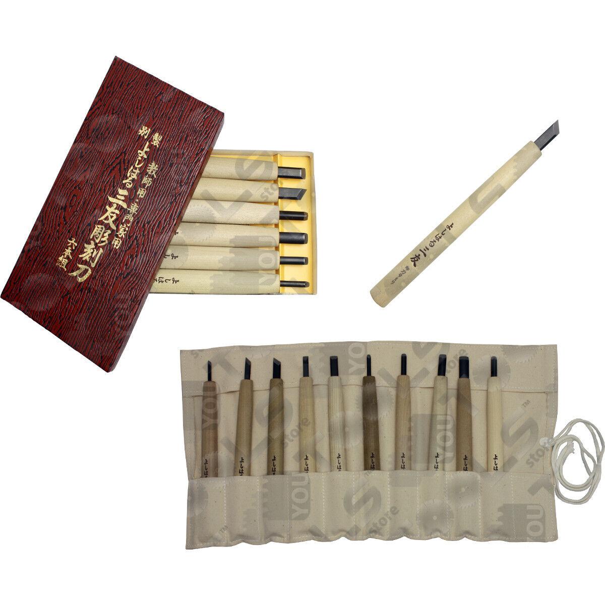 Set utensili per intaglio legno giapponesi, leggeri, bilanciati e affilati