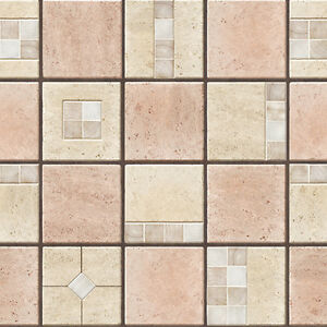 stone tile effect self adhesive wallpaper natural peel stick vinyl contact paper ebay. Black Bedroom Furniture Sets. Home Design Ideas