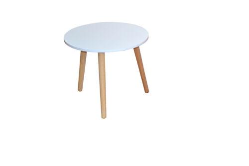 2988 Beistelltisch Gummibaum 45 cm Tisch Nachttisch Massivholz MDF Blumentisch