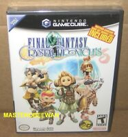 Gc Final Fantasy: Crystal Chronicles Sealed (nintendo Gamecube, 2004) & Wii