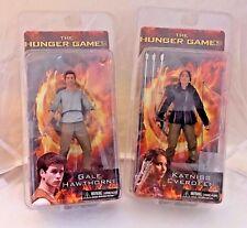 """The Hunger Games SET OF 2 Katniss  & GALE Jennifer Lawrence 7"""" figure Neca NOS"""