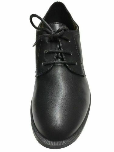 NEW WOMENS LACE UP BLACK SHOES OFFICE SCHOOL BROGUE LADIES BLOCK HEELS SIZES 3-8