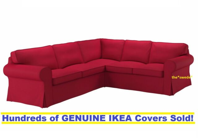 Ikea Rp 4 Seat Corner Sectional Sofa Slipcover Cover Nordvalla Red Sealed