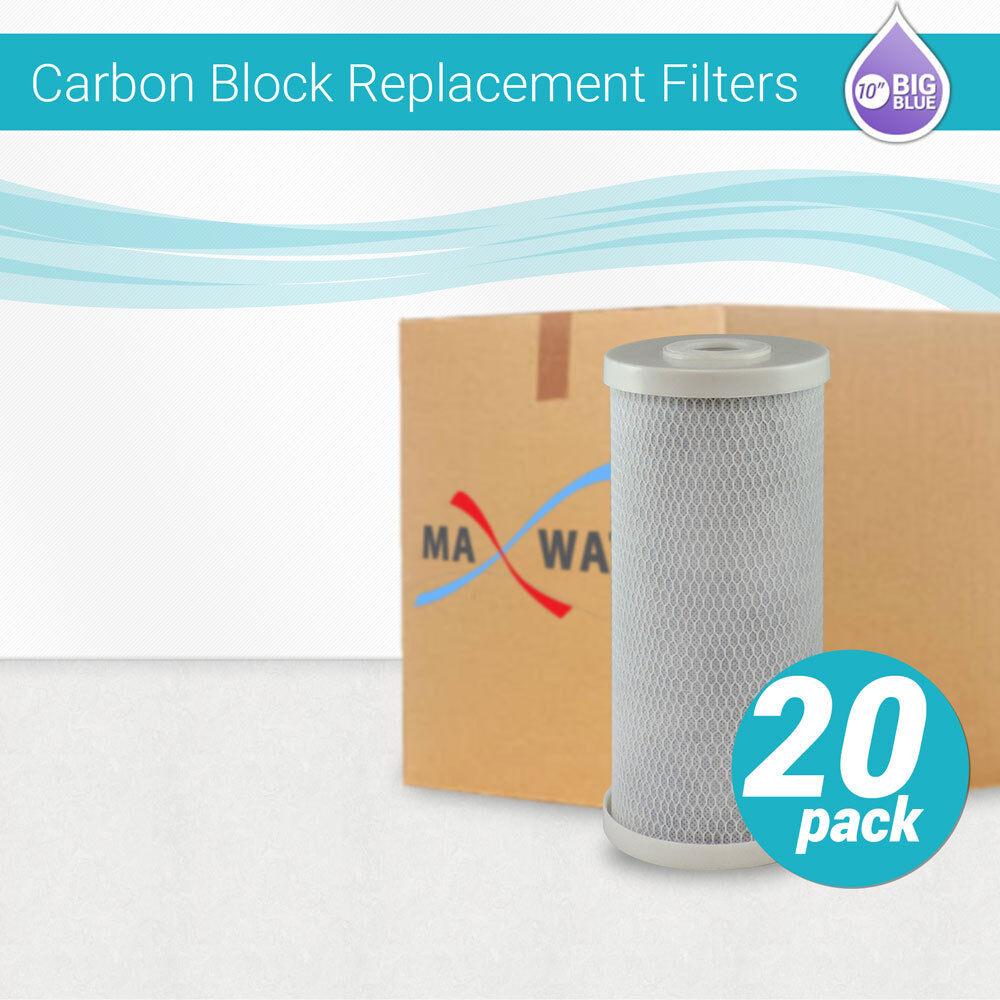 20 CTO Filtres à eau 10 x4.5  Big bleu maison tout entière de noix de coco Carbone Bloc
