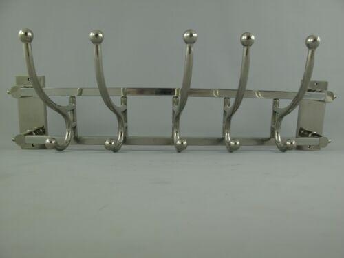 Wandgarderobe Garderobenhaken Antik Silber Alu vernickelt Kleiderhaken  B.87cm