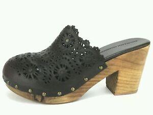 SCHULER-amp-SONS-PHILADELPHIA-Clogs-Brown-Leather-Heels-Women-039-s-US-9-EU-39-5-150