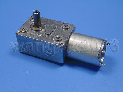 DC3V 6V 12V 24V Turbo Worm Full Mental Gearebox Reduction Gear DC Motor JGY370