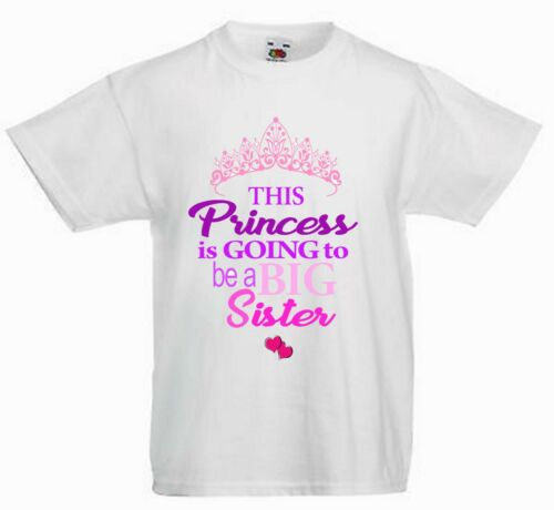CHILDRENS PERSONALISED T SHIRT* THIS PRINCESS IS GONNA BE A BIG SISTER  ref2