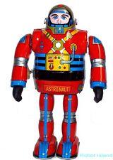 Metal House Robot Tin Toy Astronaut Robot Windup Japan