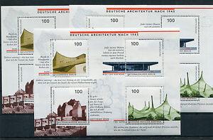 3-x-Bund-Block-Nr-37-postfrisch-BRD-1906-1909-BRD-Sammlung-1997-Architektur