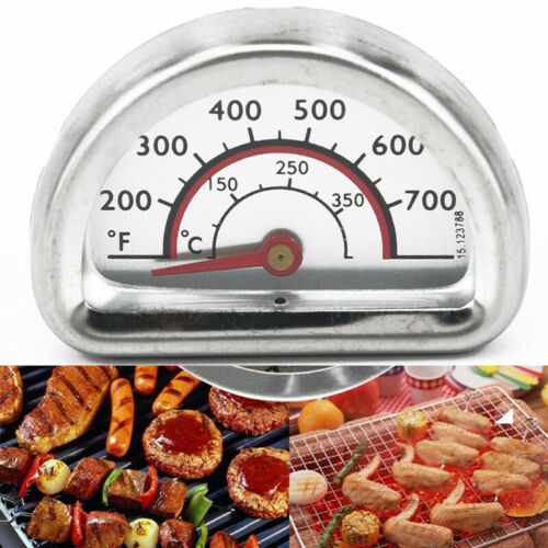 Stainless Heat Indicator Thermometer Meter Gauge For Charbroil Grill Barbecue