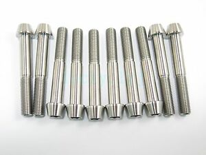 Titanium-M10-x-70mm-1-25-Pitch-Hex-Taper-Socket-Cap-Head-Ti-Bolts-Screw-2-5-8pcs