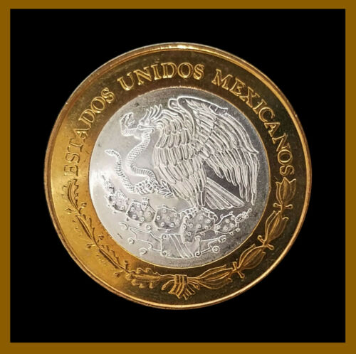 2006 Bimetallic Mascara Calakmul Campeche Mexico 100 Pesos Silver Center Coin