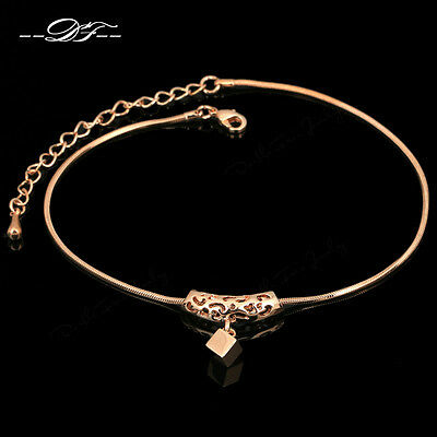 Vintage design Foot Chain Retro Anklets 18KRGP Fashion Brand Jewelry For Women