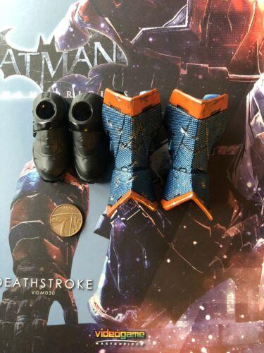 Hot Toys Batman Arkham Origins Deathstroke VGM030 Stivali Loose SCALA 1//6th