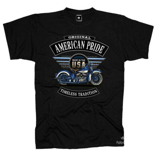 Biker Vintage Motorcycle Garage Harley-Flathead-Oldtimer-Motiv T-Shirt 4254 Bl