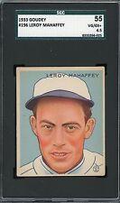 1933 Goudey #196    Leroy Mahaffey    Athletics    SGC 55 !!!!