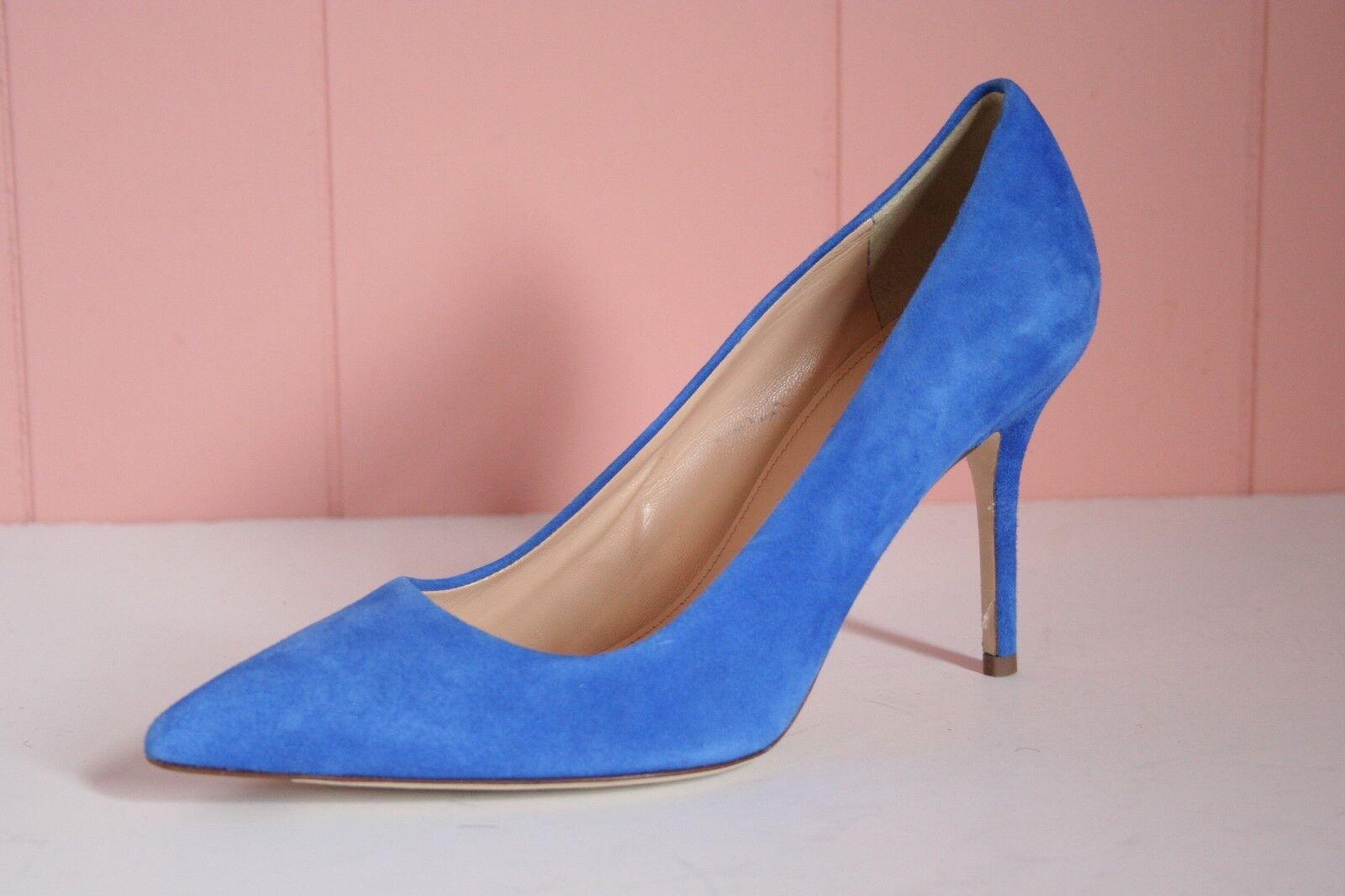 JCrew Elsie Suede Pumps 6.5 High-Heels Tidewater Blue E4969 $245