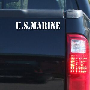 034-US-Marine-034-Military-Patriotic-Vinyl-Decal-Sticker-Car-Truck-Door-Bumper