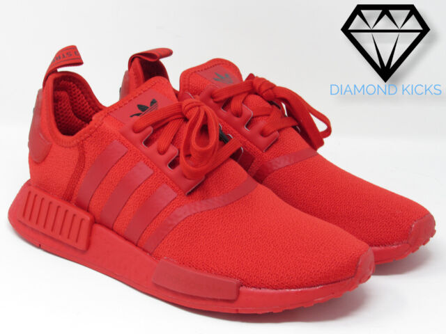 """Womens Adidas NMD R1 """"TRIPLE RED"""" (FZ3601) SIZE 6.5-9 {FAST SHIPPING}"""