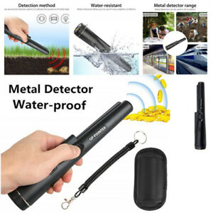 Festnight GP-Pointer Pinpointer Pin Pointer Probe Metal Detector with Holster Treasure Unearthing Tool Buzzer Vibration Automatic Tuning Black