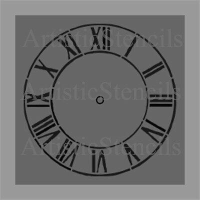 STENCIL Antique Clock   20 Inch
