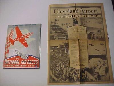 Old Vintage ~airplane Air Races~ Antique Progam Log & Orig Newspaper Lot 1939 Latest Technology
