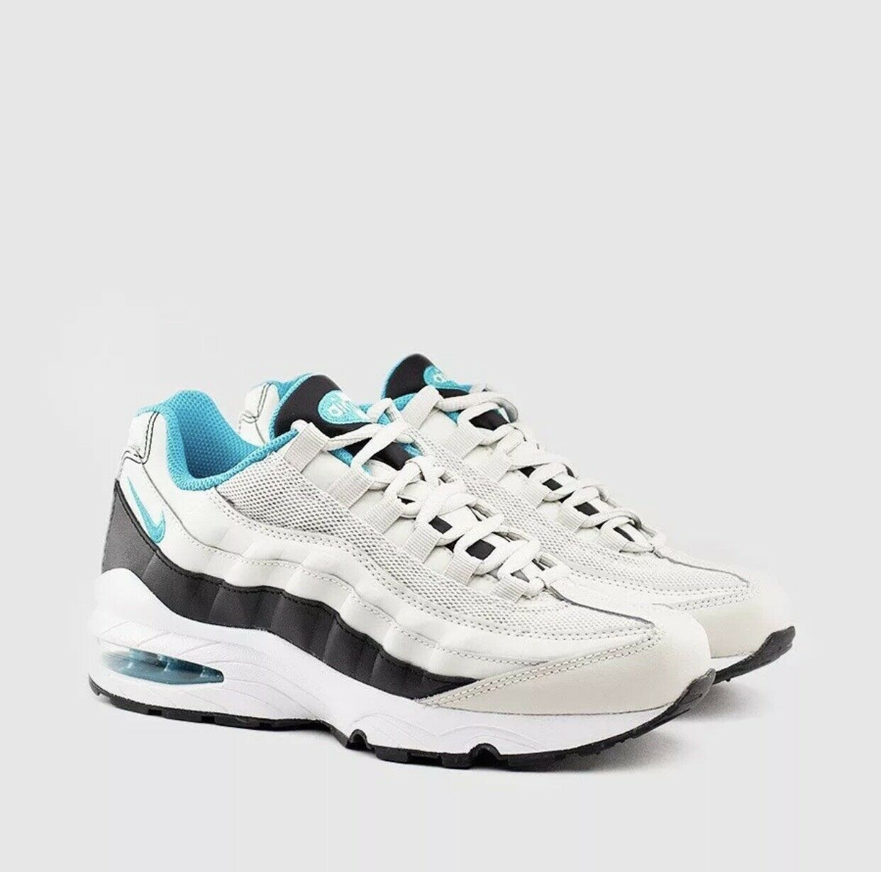 NIKE AIR MAX 95 ESSENTIAL LIGHT BONE SPORT TURQUOISE RUNNING [749766-027] SZ 5