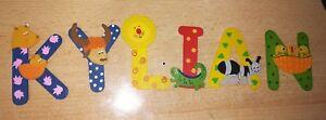 Letras de madera infantiles