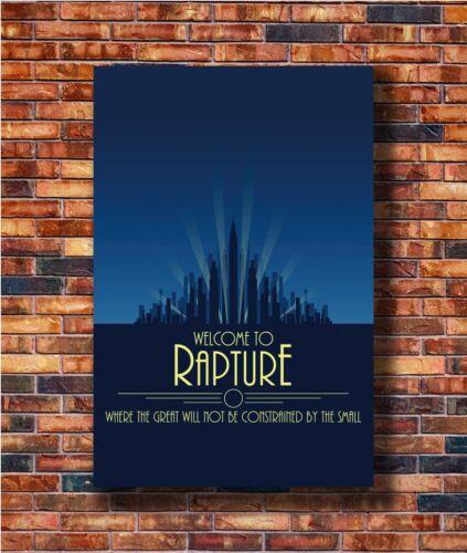 14x21 24x36 Art Gift X-375 New Bioshock Rapture Custom Video Game Cover Poster
