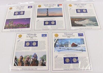 2004-P//D Statehood Quarter Postal Commemorative Society 5-Panel//10-Coin Set PCS