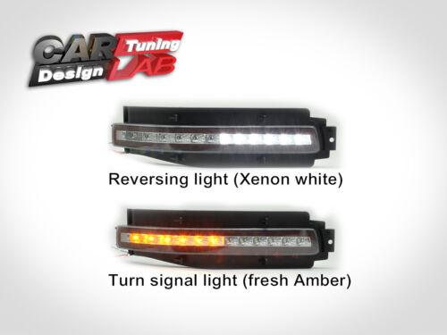Rear bumper LED Backup light fog lamps Brake Turn Clear Lens For Nissan 350z 2