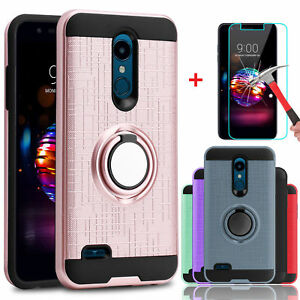 For-LG-K30-Premier-Pro-LTE-Case-Cover-With-Stand-Ring-Holder-Screen-Protector