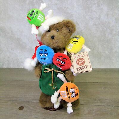 """Neuer Boyds Plüsch M&m's Teddybär 15 """" Plüschtier Nikolausmütze Bag Puppe Spielzeug Teddys"""
