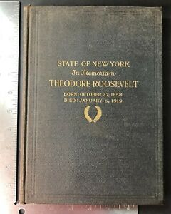 State-Of-New-York-In-Memoriam-To-Theodore-Roosevelt-President-1919-Book