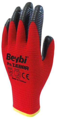 Beybi Nitril Handschuhe Größe 1012er Pack Montagehandschuhe Rot-Schwarz