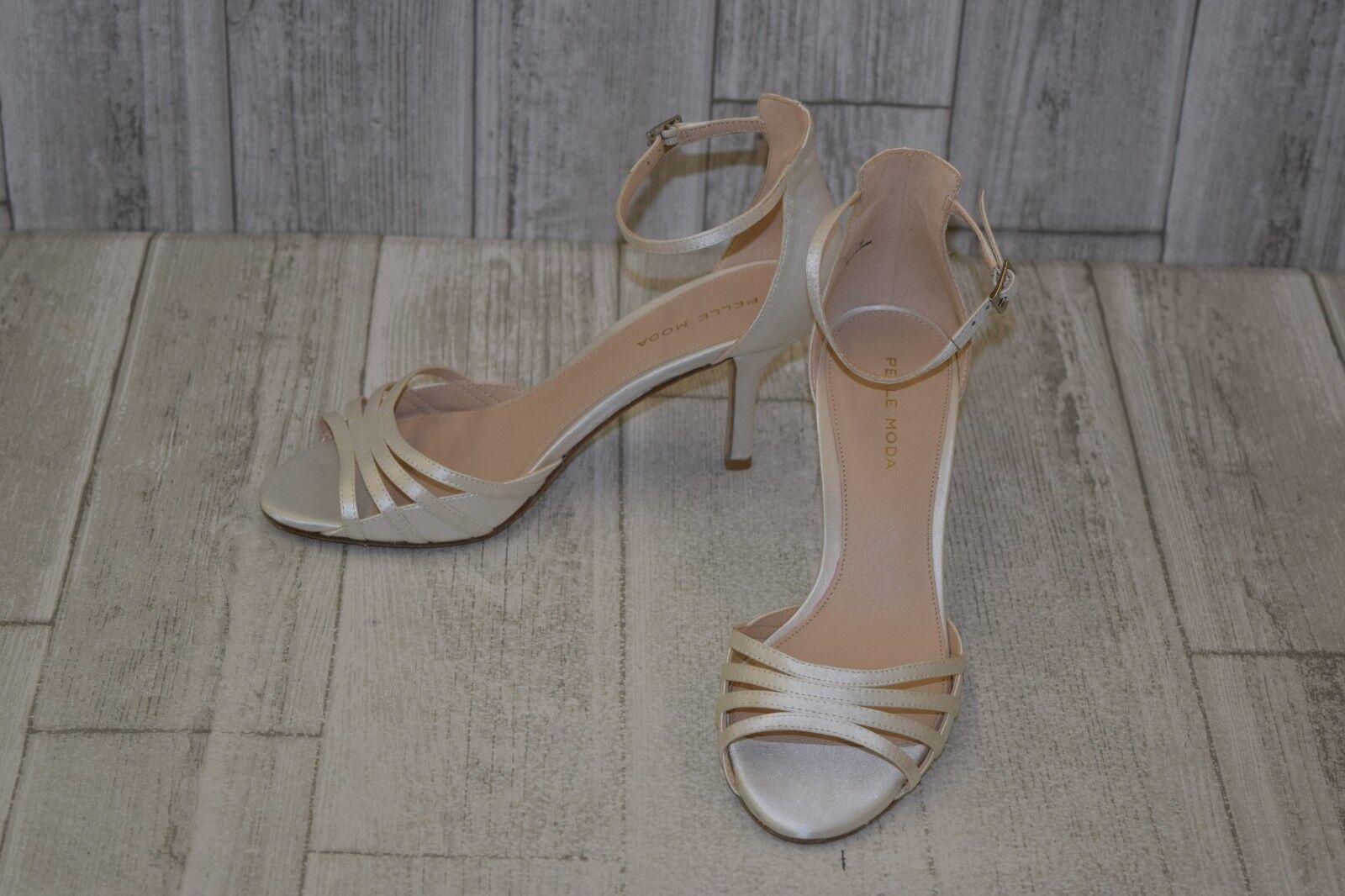 Pelle Moda Isabel 2 Ankle Strap Sandals, Women's Women's Women's Size 7M, White cd0134