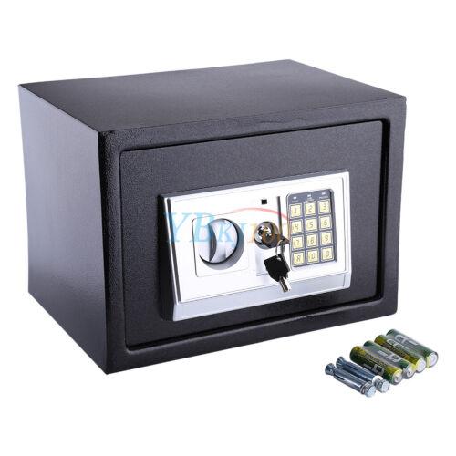 Elektronisch Safe Tresor mit Zahlencode Notschlüssel LED Geld Möbel Tresor TOP