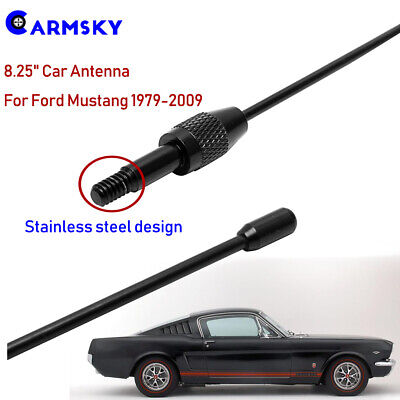 "7/"" ANTENNA MAST Black for Ford Mustang  1979-2009  NEW"