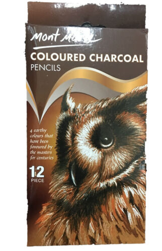 12pc Mont Marte Coloured Charcoal Pencils Artist Drawing Sketching Art Supply