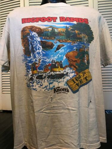 VTG Knott's Bigfoot Rapids Promo Shirt Sz XL Water