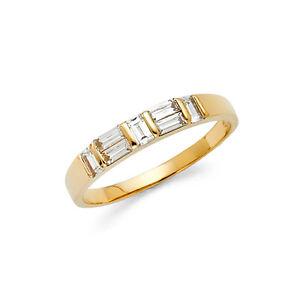 14k-Yellow-Gold-0-50-ct-Baguette-Diamond-Wedding-Band-Anniversary-Ring