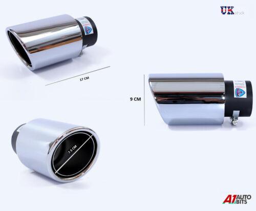 AUDI A4 80 100 A3 A6 A5 A2 SPORT EXHAUST MUFFLER PIPE TAIL TIP CHROME 45-60mm