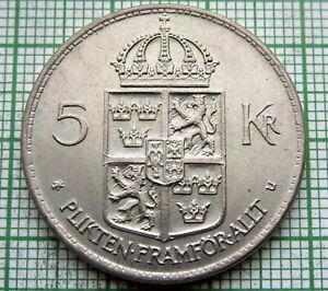 SWEDEN-Gustaf-VI-Adolf-1972-5-KRONOR