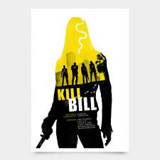 Kill Bill Tarantino firmado poster print arte de la película alternativa NT Mondo