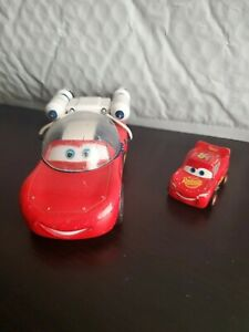 Disney Pixar Cars Toon Autonaut Lightning McQueen Moon Mater and mini car