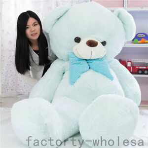 78-039-039-Giant-large-huge-big-teddy-bear-blue-plush-soft-toys-doll-Valentine-gift
