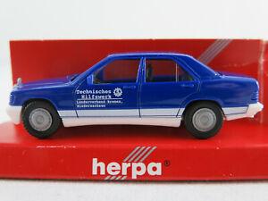 Herpa-044325-Mercedes-Benz-190-E-034-THW-LV-Bremen-Niedersachsen-034-1-87-H0-NEU-OVP