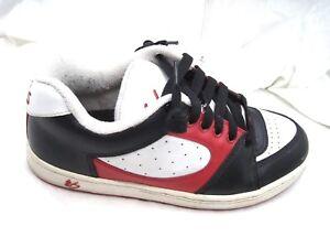 es-white-red-black-skateboarding-mens-8-5-9-5M-skate-sneakers-shoes-10-03-NRT